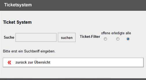 Ticket Übersicht